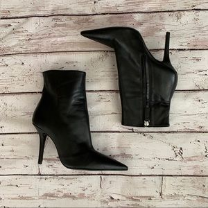 Zara leather heels ankle boots booties